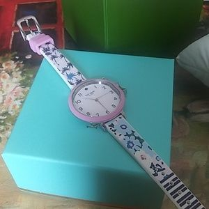 Kate spade floral and stripes silicone women watch